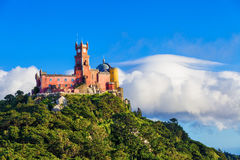Panorama of Pena National Palace Stock Photos