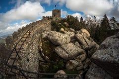 Sintra portugal Vue du château image libre de droits
