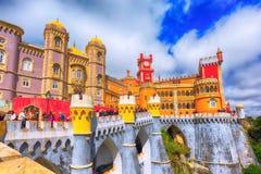 Sintra, punto di riferimento del Portogallo, palazzo di Pena fotografia stock