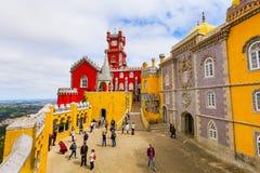 Sintra, punto di riferimento del Portogallo, palazzo di Pena immagine stock