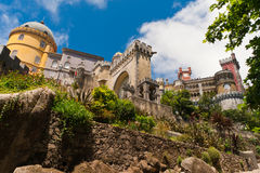 Sintra Schloss in Portugal Stockfotografie
