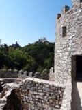 Sintra: två slottar Royaltyfri Foto