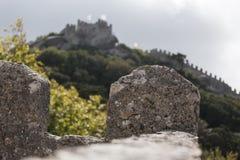 Sintra portugal with moorish castle Royalty Free Stock Photo