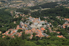 Sintra. Village view from the top Royalty Free Stock Photos