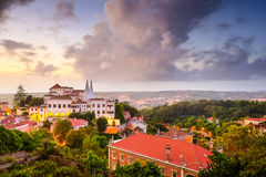 Sintral Portugal Town Skyline Royalty Free Stock Photos