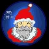 Sintrar det lyckliga nya året santa för glad jul klas Arkivfoton