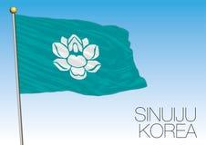 Sinuiju regional flag, North Korea Royalty Free Stock Photos