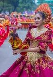 2018 Sinulog festival. CEBU CITY , PHILIPPINES - JAN 21 : Participant in the Sinulog festival in Cebu city Philippines on January 21 2018. The Sinulog is the Stock Photos