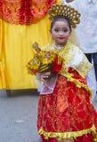 2018 Sinulog festival. CEBU CITY , PHILIPPINES - JAN 21 : Participant in the Sinulog festival in Cebu city Philippines on January 21 2018. The Sinulog is the Stock Images
