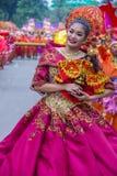 2018 Sinulog festival. CEBU CITY , PHILIPPINES - JAN 21 : Participant in the Sinulog festival in Cebu city Philippines on January 21 2018. The Sinulog is the Royalty Free Stock Photo