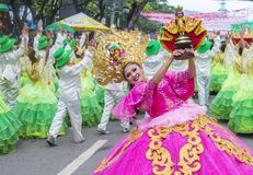 2018 Sinulog festival. CEBU CITY , PHILIPPINES - JAN 21 : Participants in the Sinulog festival in Cebu city Philippines on January 21 2018. The Sinulog is the Stock Photo