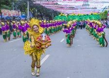 2018 Sinulog festival. CEBU CITY , PHILIPPINES - JAN 21 : Participants in the Sinulog festival in Cebu city Philippines on January 21 2018. The Sinulog is the Stock Photography