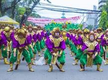 2018 Sinulog festival. CEBU CITY , PHILIPPINES - JAN 21 : Participants in the Sinulog festival in Cebu city Philippines on January 21 2018. The Sinulog is the Royalty Free Stock Photos