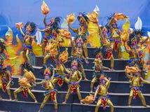 2018 Sinulog festival. CEBU CITY , PHILIPPINES - JAN 21 : Participants in the Sinulog festival in Cebu city Philippines on January 21 2018. The Sinulog is the Stock Image