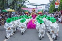 2018 Sinulog festival. CEBU CITY , PHILIPPINES - JAN 21 : Participants in the Sinulog festival in Cebu city Philippines on January 21 2018. The Sinulog is the Stock Photos