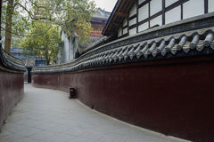 Sinuous ancient walls of Chinese building Stock Image