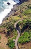Sinuous road (Madeira) Royalty Free Stock Images