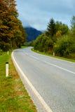 Sinuous road through the mountains Royalty Free Stock Photos