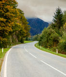 Sinuous road through the mountains Stock Images