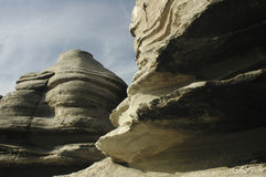 Sinuous shape of the rock Stock Images
