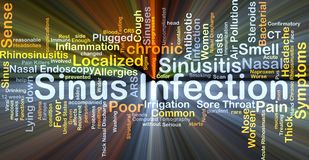 Sinus infection background concept glowing Royalty Free Stock Photos