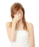 Sinus pain Royalty Free Stock Image