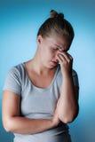 Sinus pain, sinus pressure, sinusitis. Royalty Free Stock Image