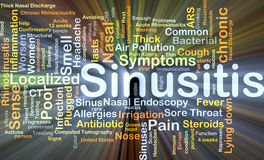 Sinusitis background concept glowing Royalty Free Stock Image