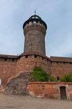 Sinwell Tower, Nuremberg. Imperial castle Kaiserburg in Nuremberg and Sinwell Tower, Germany Stock Photos