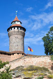 Sinwell Tower at Nuremberg Imperial Castle Royalty Free Stock Photos