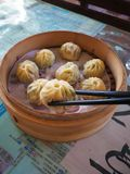 Sio Long Pao, popular dimsum in taiwan Stock Photos
