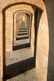 Sio Se政客桥梁,在Esfahan 免版税库存照片