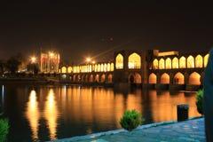 Sio-Se-Pol-Brücke in esfahan, der Iran, glättend stockbild