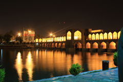 Sio-se-pol bridge in esfahan, iran, evening Stock Image