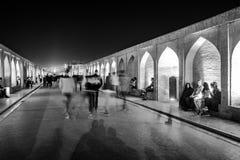 Sio seh波尔布特桥梁在伊斯法罕,伊朗 免版税图库摄影