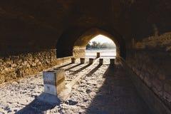 Sio Seh波尔布特,也称33曲拱桥梁,伊斯法罕,伊朗 免版税库存照片