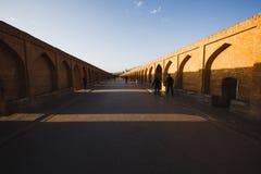 Sio Seh波尔布特,也称33曲拱桥梁,伊斯法罕,伊朗 库存照片