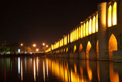 Sio Seh Pol Bridge by night Royalty Free Stock Photo