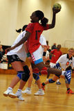 Siofok - Angola handball game Royalty Free Stock Images