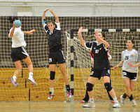 Siofok - Budapest handball match Stock Image