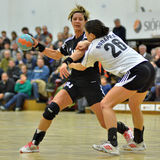 Siofok - Budapest handball match Royalty Free Stock Images