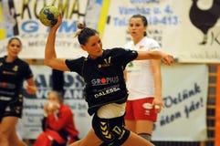 Siofok - debrecen handball match Royalty Free Stock Photography