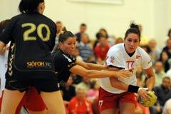 Siofok - debrecen handball match Royalty Free Stock Photo