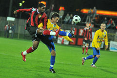 Siofok - Honved soccer game Royalty Free Stock Image