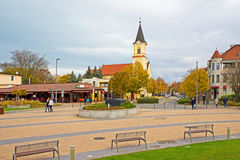 Siofok in Hungary. Siofok is a city in Hungary on the southern bank of Lake Balaton in Somogy County. The city is one of Hungary`s most popular holiday royalty free stock photography