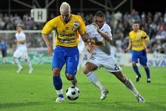 Siofok - Ujpest soccer game Stock Images