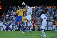 Siofok - Ujpest soccer game Stock Image