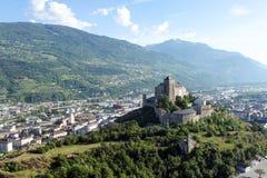 Sion, le canton du Valais en Suisse Photos stock