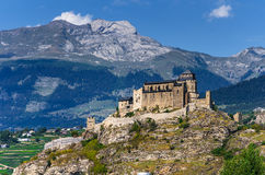 Sion, Notre-Dame de Valere, Switzerland Stock Photos