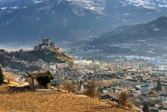 Sion, Switzerland Stock Images